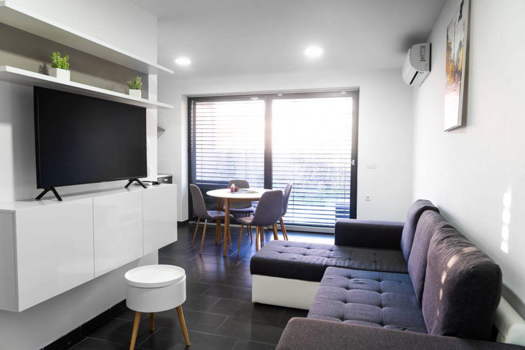 apartma sunset banovci dnevni prostor