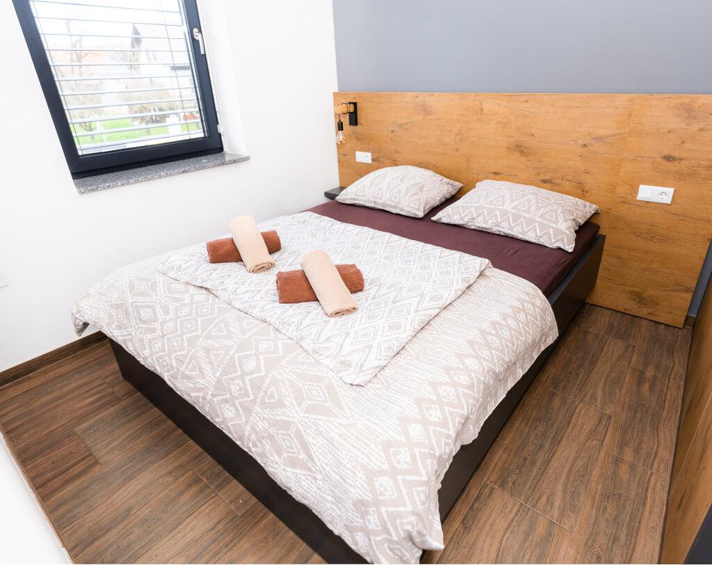 Apartmaji Banovci spalnica